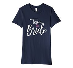 Women's Team Br Shirt for Support of the Bride to Be Wedding Shirt XL Navy