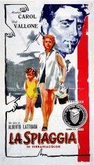 CINE(EDU)-707. La playa = La spiaggia. Dir. Alberto Lattuada. Italia, 1954. Comedia. Unha prostituta, Annamaria (Martine Carol) e a súa filla (Anna Gabriella Pisani) van de vacacións á praia. Ao non encontrar outro aloxamento instálanse no Hotel Palace, onde Annamaria se fai pasar por viúva e se relaciona cos notables e burgueses en vacacións. Todo vai ben ata que a súa profesión comeza a ser coñecida... http://kmelot.biblioteca.udc.es/record=b1510371~S1*gag