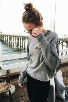 Brandy ♥ Melville | Acacia Malibu Locals Only Sweatshirt - Graphics
