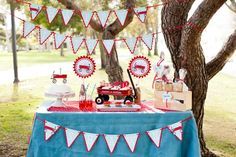 Little Red Wagon. I think my baby shower was inspired by this table!