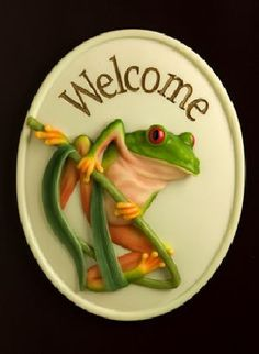 Tree Frog Welcome Plaque …