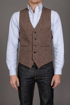 DONEGAL VEST BROWN