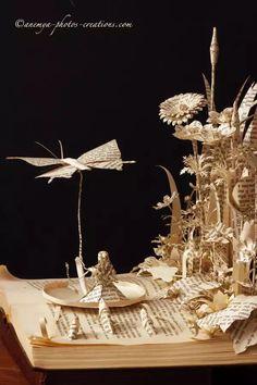 Alice in Wonderland book sculpture