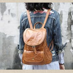 22132f108d38 Handcarted Leather Travel Backpack Bags