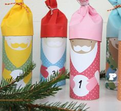 Make a Woodland Advent Calendar - Pysselbolaget - Fun Easy Crafts for Kids and Parents Advent Calenders, Diy Advent Calendar, Christmas Love, Christmas Holidays, Thanksgiving Holiday, Santa Template, Advent Activities, Unique Christmas Decorations, Navidad Diy