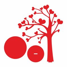 DXF Plans Downloads - Tree with hearts