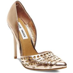 Steve Madden Women's Vanesaa Pumps (£45) ❤ liked on Polyvore featuring shoes, pumps, rose gold, heels stilettos, steve-madden shoes, pointy toe stiletto pumps, pointed toe stilettos and high heel pumps