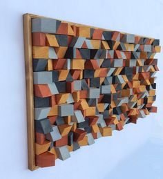 Excited to share the latest addition to my shop: Wooden Wall Art Unique in design and colour effect art also acts as a noise diffuser Wooden Wall Art, Wooden Walls, Wood Art, 3d Wall, Wall Sculptures, Palette, Wood Projects, Artist, Painting