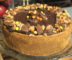 Peanut Butter Chocolate Cheesecake from Paula Deen