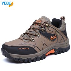 YEBE Outdoor Sports Camping Hiking Men's shoes Mountain Non-slip Breathable Tactical Boots Waterproof Climbing Trekking Sneakers