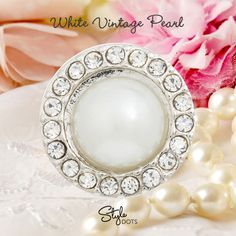 For a classic and timeless look - White Vintage Pearl Dot. #styledots