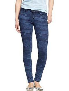 Womens The Rockstar Camo-Print Jeans