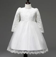 Find More Flower Girl Dresses Information about 2016 White Pink Lace Applique Long Sleeves Flower Girl Dresses For Weddings Girls First Communion Dress Kids Summer Dresses,High Quality girl formal dress,China dress shirt sleeve size Suppliers, Cheap girls velvet holiday dresses from Ayaya Dress Shop on Aliexpress.com