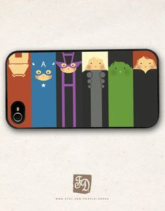 iPhone, iPod, iPad, Samsung Galaxy, Nexus casecute Avengers / the Hulk , Hawkeye , Captain America , Iron Man , Thor on Etsy, $16.84