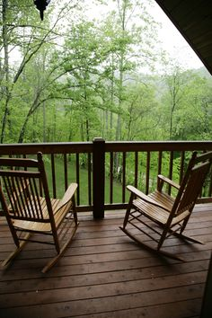 J1 Balcony Rocking Chairs and Great View