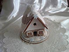 Perníková chaloupka s mašlí, cena: 220,- Kč Snow Globes, Gingerbread, Decor, Decoration, Ginger Beard, Decorating, Deco
