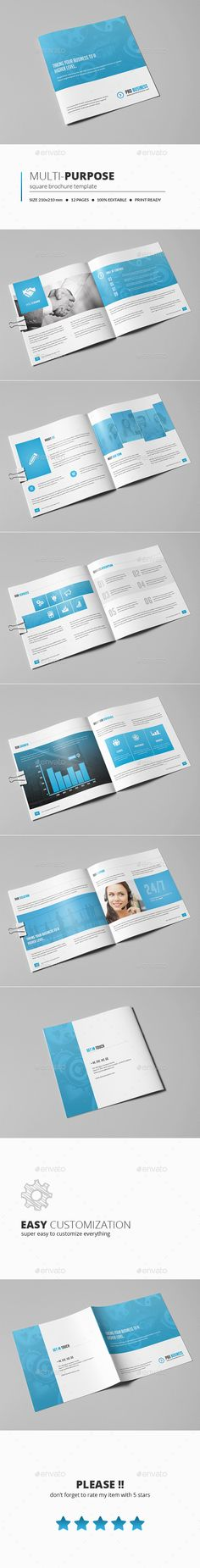 1092 Best Square Brochure Template Images In 2019 Card Templates