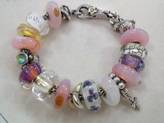 Trollbeads- lots of pink.