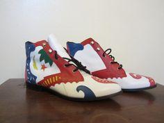 Vintage Colorful 80s Boots