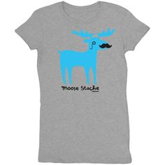 Moose Stache - Tees - Women