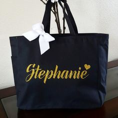 Bridal Tote Bride Bag Bridesmaid Personalized Custom Polyester Team