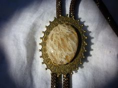 Vintage Saginetic Agate Bolo Tie by GrandpaCoesRockShop on Etsy, $40.00
