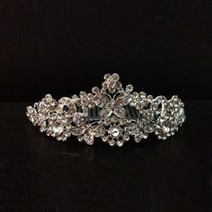 Alloy Beads Butterfly Flower Wedding Tiara Crown: USD $12.51