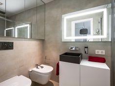 Amenajare de apartament in stil contemporan cu tonuri neutre si decor minimalist - imaginea 15 Valencia, Minimalism, Toilet, Bathroom, Decor Minimalist, Design Interior, Image, Bathrooms, Neutral Tones