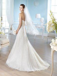 HAIMM / Wedding Dresses / Glamour 2014 Collection / San Patrick (back) San Patrick, Riga, One Shoulder Wedding Dress, Wedding Gowns, Glamour, Collection, Fashion, Mariage, Vestidos