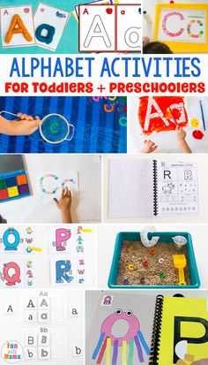 Alphabet activities for toddlers and preschoolers. Teaching the alphabet to preschoolers can be a lot of fun! With these preschool learning printables for the alphabet you have a simple way to teach them the letters. Try these alphabet activities for kids Preschool Literacy, Preschool Letters, Literacy Activities, Toddler Preschool, Kindergarten, Toddler Class, Educational Activities For Toddlers, Alphabet Activities, Kids Learning