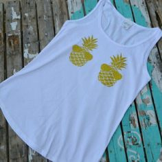 << Pineapple Sunglasses Summer Tank >> 2 x host pick! Nwt from my boutique   Available in small medium large and XL   Womens loose fitting tank top with a glitter print!  Let me know your size and I will make you a listing! PLEASE do not purchase this listing  Tags: summer spring pineapple sunglasses shade glasses sunnies follow game share Twang Boutique  Tops Tank Tops