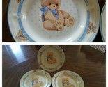 Tienshan Theodore Country Bear Stoneware Lot Of 3 Salad Plates Teddy Bea... - $8.81