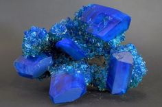 Chalcanthite;  It is an excellent mineral for activation of the throat chakra, bringing a smooth flow of communication and elocution in all situations.