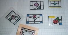 a simple tutorial for making fake stained glass windows for your dolls house projects.  As you can...