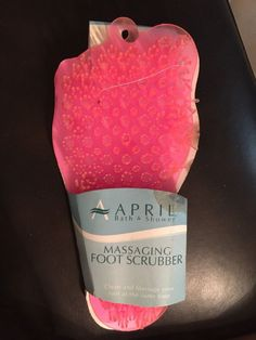 Soapy Soles Foot Scrubber Clean Feet While Stimulating Circulation Perfect New #AAprilBathShower