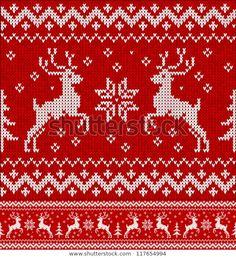 Fair Isle Knitting Patterns, Fair Isle Pattern, Knitting Charts, Knitting Stitches, Cross Stitch Embroidery, Embroidery Patterns, Cross Stitch Patterns, Crochet Patterns, Christmas Knitting
