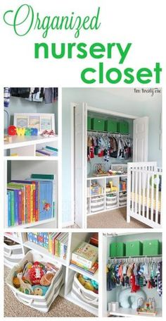 Organized nursery closet!  Great tips and tricks for organizing clothes and toys! by Kimara