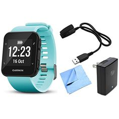 Garmin Forerunner 35 GPS Running Watch  Activity Tracker with Accessories Bundle Frost Blue ** Visit the image link more details.