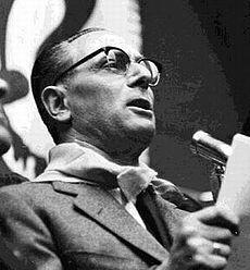 Enrico Mattei, politician.