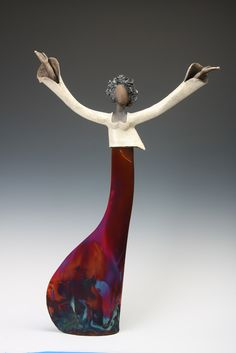 "Judy Geerts | Thomas R. Riley Galleries Collections - ""Hallelula""  29"" x 21"" x 4.5"", Ceramic, $2795"