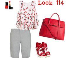 MAS TENDENCIAS BCN: Look 114 - outfit gris y rojo para la oficina