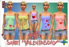 """Annett`s Sims 4 Welt: Shirt """"Valentinsday"""" • Sims 4 Downloads"""