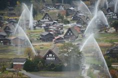 """93. These adorable cottages in north-western Japan are all constructed in the """"gassho-zukuri"""" architectural style. The entire village of Shirakawago is registered as a UNESCO World Heritage Site. (Photo by Kaz Photography/Getty Images)  via @AOL_Lifestyle Read more: http://www.aol.com/article/lifestyle/2016/11/28/100-under-the-radar-places-everyone-should-visit-in-the-world/21592729/?a_dgi=aolshare_pinterest#fullscreen"""