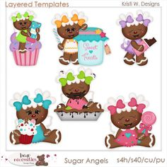 Sugar Angels Gingerbread PSD Templates by by marlodeedesigns, $5.00
