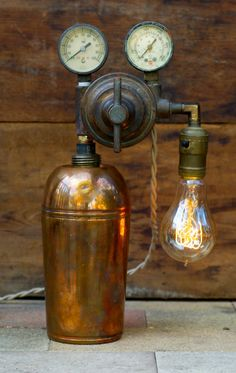 Steampunk Setzler Bottle Lamp $235