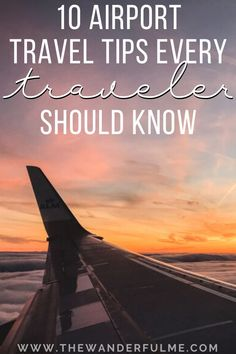 Must-Know Airport Travel Tips - Heading to a bustling and hustling airport soon? As an expert traveler, I've learned the BEST way to navigate a busy airport! If you're traveling soon via plane, here are my best 10 airport tips you need to know! #airport #travel #tips Have A Great Vacation, Great Vacations, Solo Travel Tips, Travel Advice, Best Places To Travel, Trip Planning, Airplane View, Travel Photos, Travel Photography