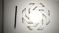 Learn how to draw optical illusions like this twisted octagon.