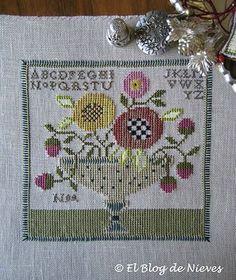 Florero otoñal de Ewe & Eye & Friends punto de cruz cross stitch point de croix
