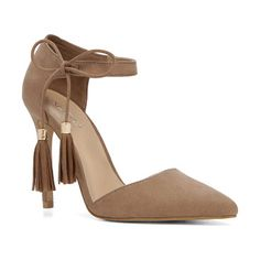 Thaella pumps by ALDO. A two-piece pump plays the free-spirit with boho fringe. Pair it with everything from festival frocks to tailored loo...