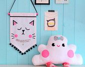 The Cat Banner, Canvas wall banner, Banner, Pennant, Decoration, Cat